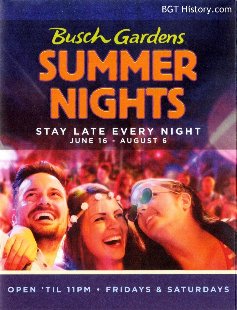 Summer Nights Bgt History Busch Gardens Tampa History